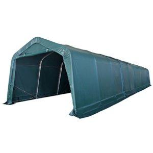 Xingshuoonline Tente en PVC Portable pour bétail Vert foncé Tente Portable Protection UV et résistant à l'eau