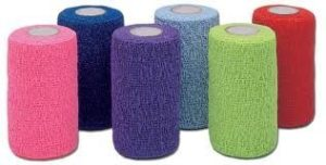 Co-Flex – Bandage flexible Ruban – 4″ x 5 km – couleurs assorties – USA – 6, 12 ou 18 paquet (18)