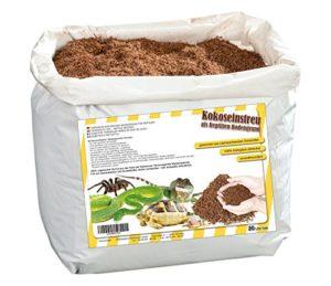 Humusziegel – Substrat de Terrarium – 100% Pure Terre de Coco – Litière de Coco Substrat – Sac de 20 litres