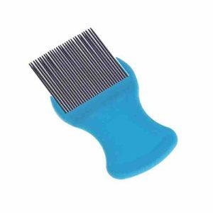 Mackur Mini Peigne de toilettage en Acier Inoxydable Bleu Petit modèle
