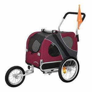 DOGGYHUT Remorque pour chien moyen avec kit de joggeur ROUGE 70301-01