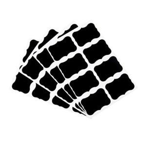 Garciaria 36 pcs Tableau Noir Tableau Noir Craie Tableau Autocollants Artisanat étiquettes de Pots de Cuisine 49 x 34 mm décoration Autocollants étiquettes (Couleur: Noir)