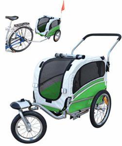 Polironeshop modèle Argo Remorque à vélo et poussette pour le transport de chien et animaux, vert, S