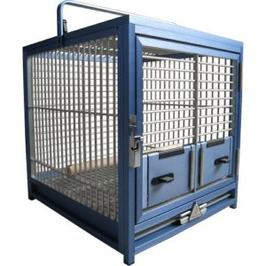 King's Cage de voyage Medium – Bleu
