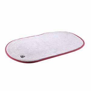 Nitrip Tapis de Coussin Ovale Confortable et Chaleureux Anti-dérapant pour Chat et Chien (Gris)