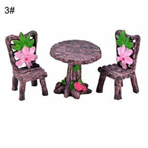 pittospwer Lot de 2/3 Mini chaises de Jardin/Paysage/Fleurs/Plantes 3# 3#