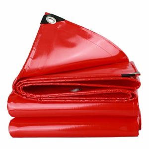 tarpaulin Fovert Ross Bâche en Poly Robuste Rouge – Bâche épaisse et imperméable, résistante aux Rayons UV, pourriture, déchirures et déchirures avec Oeillets et Bords renforcés