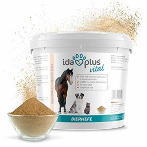 AniPlus Pur Levure de Bière Complément alimentaire | pour une peau saine & Fourrure brillant | Produit naturel pour les chevaux, chiens & chats | pratique cuillère doseuse inclus