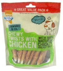 Good Boy Waggles and Co Chewy Twists with Chicken 320g VALUE PACK Pack of 3
