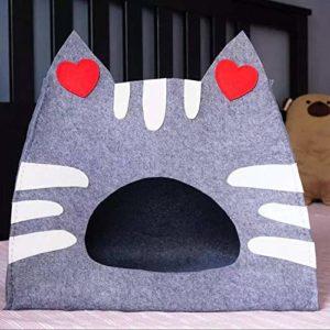 SHIYID Felt Cat Litter Kennel Out Hand-Held Breathable Folding Pet Litter