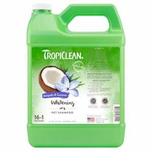 Tropiclean Shampooing Pelage pour Chien Blanc Amome Sauvage/Noix de Coco 3,78 L 16:1 1 Unité