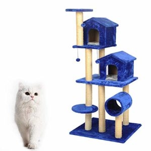 AYHa Multi-Layer Cat Escalade Cadre Arbre Scratch Board Cat Cat Blue Cat Saut à la plate-forme Tremplin Pet Toy Cat Toy Arbre à chat