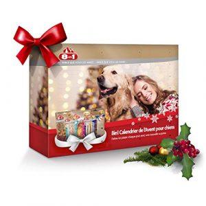 8in1 Calendrier de l'Avent pour chiens – Cadeau de Noël parfait pour votre chien – Assortiment de 8 délicieuses friandises : bâtonnets torsadées filets et brochettes à mâcher friandises lyophilisées