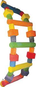 A&E Cage Company Hb149m Happy Beaks Échelle en bois assortis jouet pour oiseau, 32par 17,8cm