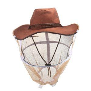 ABEDOE Voile d'apiculture, Anti-Moustique Abeille Insectes Mouche Masque Cap Chapeau Protection du Visage en Plein air