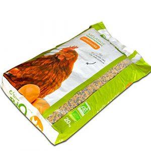 Agro Sens – Mélange de céréales biologiques pour Poules pondeuses. Sac de 20 kg