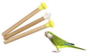 AIME 869071 – Perchoirs en Bois pour Oiseau – 3 Pièces