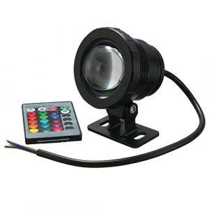 Aishah étanche 10 W RVB LED lumière Jardin Fontaine Piscine étang projecteur Super Lumineux Lampe sous-Marine avec télécommande
