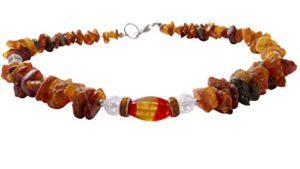 Amber Pet Line Collier pour chien–Collier Ambre Achat et cristal de roche 46cm 00509.59dk Samoyède