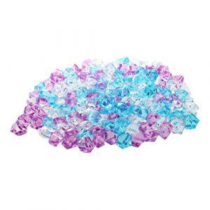 Andifany Lot de 150 Pierres décoratives en Plastique pour Aquarium Bleu/Rose/Blanc