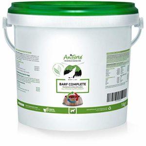AniForte Barf Complete 1 kg pour Chiens, Riche en Vitamines et Minéraux, Mélange d'herbes spécial pour BARF
