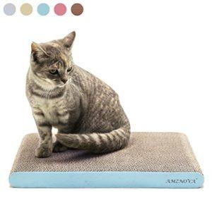 ANZNOVA Griffoirs pour chats, Chat Griffoirs, Carton Ondulé pour Chat, Chat Planche à Gratter, Jouets à l'herbe à chat