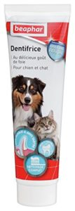 BEAPHAR – Dentifrice haleine fraîche pour chien et chat – Très appétant – Sans rinçage – Élimine la plaque dentaire – Empêche la formation de tartre – Combat la mauvaise haleine – Tube de 100 g