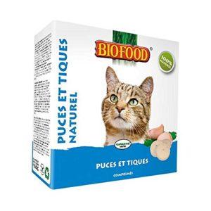 Biofood Friandise Anti-Puces Naturel pour Chat 100 Pièces