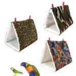 Bird Hamac, Hunpta Bird Parrot Cage Hamac en peluche Snuggle Happy Hut Tente Lit superposé jouet à suspendre Grotte 24*17*18cm