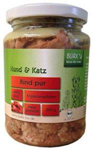 Burk S bovine pur 320g Bio Complément alimentaire pour chiens et chats dans le verre