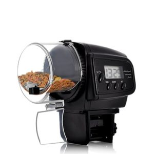 Bw Aquarium automatique de nourriture pour poissons, Auto Poisson Nourriture Mangeoire avec écran LCD pour aquarium (impression Motif)