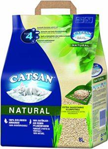 Catsan Natural – Litière agglomérante compostable pour Chat À 100% en Fibres végétales