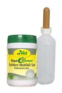 cdVet Naturprodukte Equi Green Fohlen de 500g + Bouteille de Secours