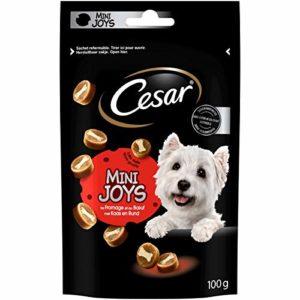 CESAR Mini-Joys – Récompenses au Fromage et au Bœuf pour Chien, 6 Sachets de 100g de Friandises