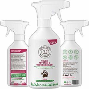 C&G Pets – Détachant anti-taches et odeurs pour animaux de compagnie -500ml- Formule végétale – Enzymes naturels – Anti-bactérien – Prévient les marques – Détruit les taches organiques