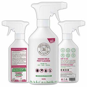 C&G Pets | Nettoyant antiparasitaire 500 ml | Élimine les acariens de lit | 100 % naturel et sans danger pour l'environnement | Adapté aux animaux domestiques et aux enfants | Spray durable
