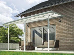 Chalet et jardin 701692 – Toit Couv' Terrasse – Aurore Aluminium – 3 X 4.25 M – Blanc