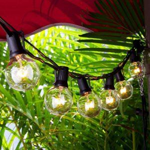 Chenci G40 Guirlandes Lumineuses/Guirlande Guinguette Led Raccordable Avec 25 Ampoules Blanc Chaud 7.62m, Décoration intérieur et extérieur pour Patio, Café, Jardin,Pergola, Décoration de Parti [Classe énergétique A]