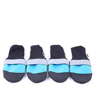 Chien imperméable anti-dérapant Chaussures confortables Bottes Mode durable Bande réfléchissante Chien occasion à S Paws Chaussures de protection pour chiens de taille moyenne à grande