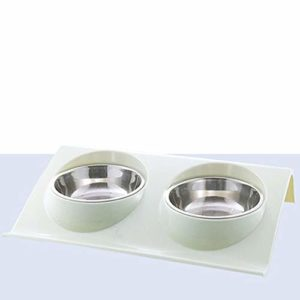 Chiens Gamelles de Base Cat Bowl Oblique Double Bowl Protection Ridge Cône station d'alimentation de haute qualité Dog Bowl Convient for les petits / / grande pour Chats Chiens et animaux de compagnie
