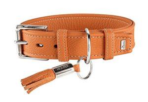 Collier cannes 70 cuir orange