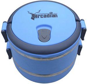 Compact Chien Voyage Ensemble de bol de nourriture et d'eau par Arcadian–de qualité alimentaire de qualité avec de l'eau serré Top Bol. Idéal pour le camping.