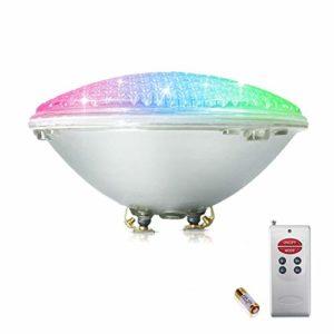 COOLWEST RGB 36W Lampe de Piscine Lumière LED PAR56 12V DC/AC, contrôle par télécommande, Etanche IP68 Éclairage sous-marin