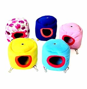 Cosanter Hamac de Coton Chaud Petite Cage pour Animaux Nid Jouets pour Animaux Hamster Couche Chaud Cabane de Hamster 1pcs