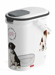 CURVER | Verseuse à croquettes 10L/4Kg – love pets – Chien, Blanc, Pet dry food container, 19,2×29,5×34,8 cm