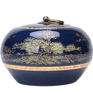 DALEI Urne pour Les Cendres de crémation – Urnes funéraires pour Chien/Pet – Made in Céramique et Main-Painted- Enterrement d'affichage