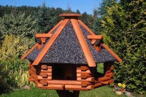 Deko-Shop-Hannusch Nr13s Mangeoire à oiseaux de luxe avec toit en crépi Taille XXL 70 x 45 cm