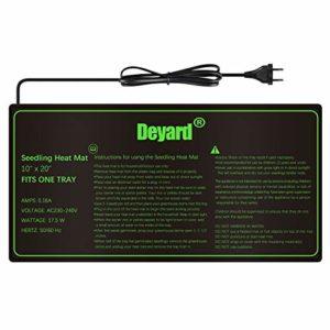 Deyard Tapis Chauffant imperméable à l'eau Augmente la Propagation des semences Coussin de Chauffage Hydroponique (10″x20)