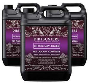 Dirtbusters Nettoyant pour gazon artificiel géranium et camomille avec désodorisant réactivant pour animaux domestiques et chats 3 x 5 litres