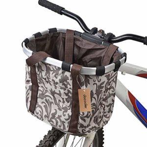 Docooler Panier de Vélo Détachables Cycle Avant Toile Panier Transporteur Sac Pet Carrier en Alliage d'Aluminium